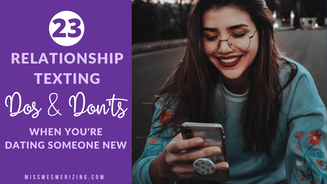 relationship texting dos and don'ts