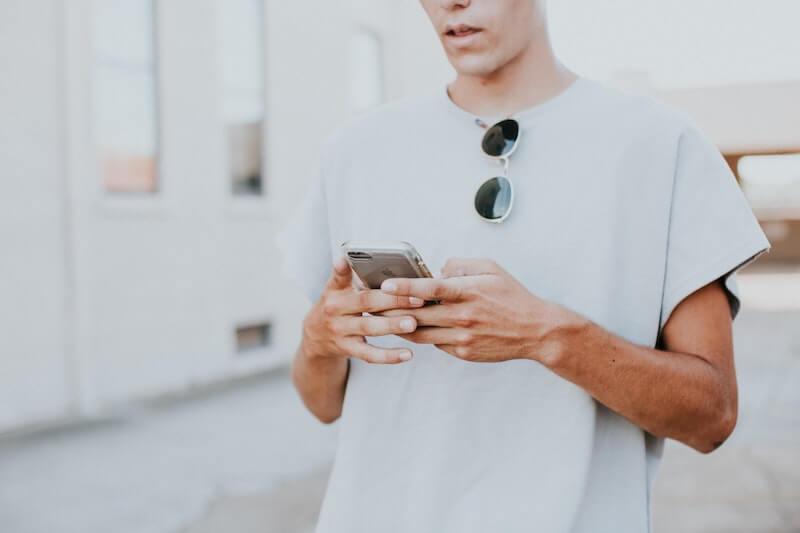 Guy Reading Texts